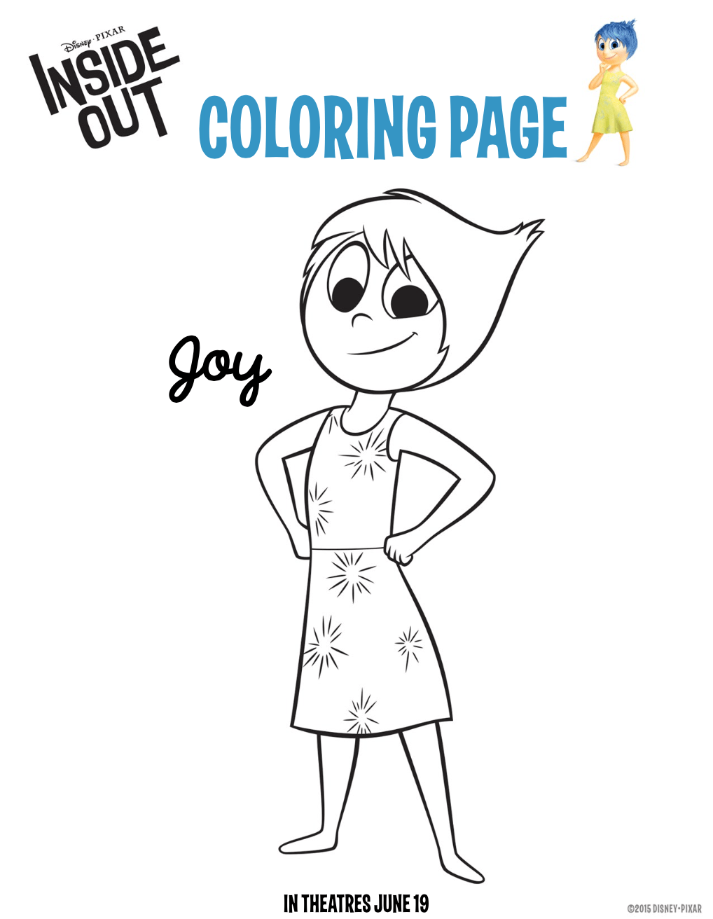 Free coloring pages emotions -  Here Are 6 Free Printable Inside Out Coloring Pages So You Can Begin Getting Familiar With The Characters And The Emotions They Represent