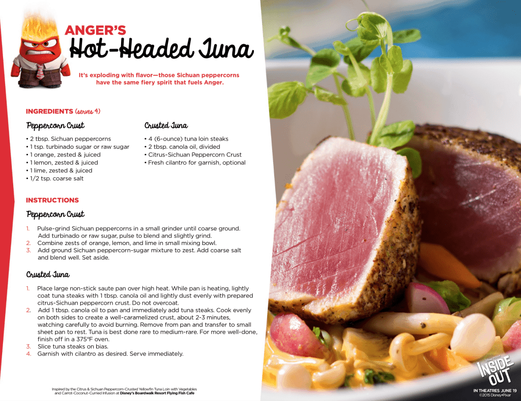 Seared Tuna recipe Inside Out