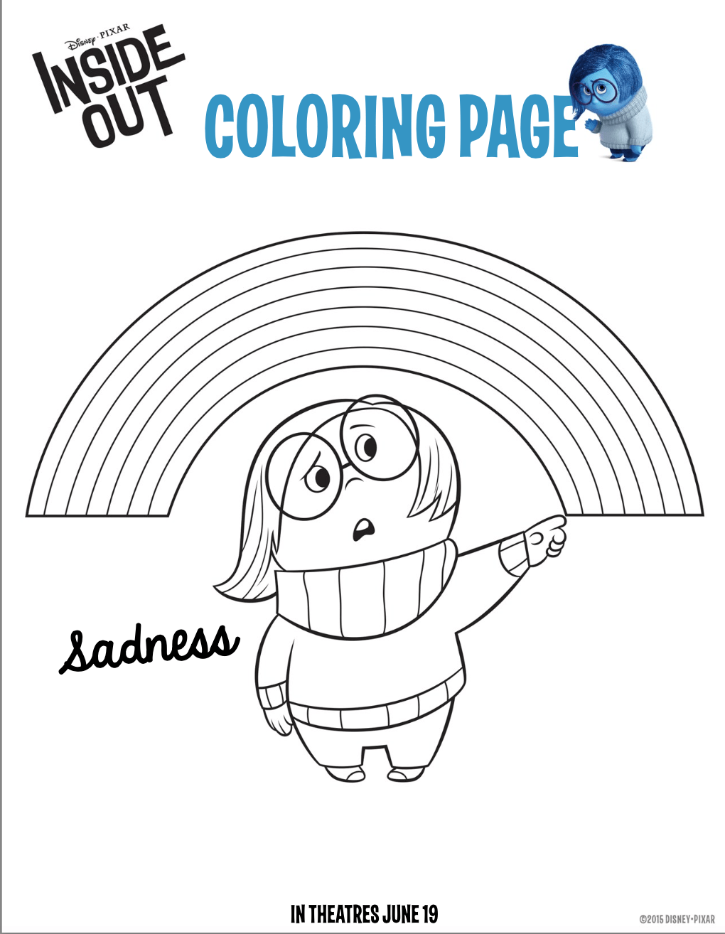 Fun And Free Inside Out Coloring Pages Hispana Global