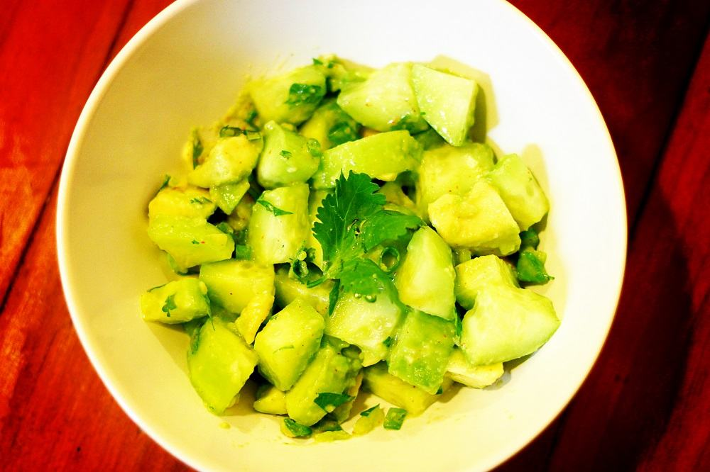 Avocado-and-cucumber-salad
