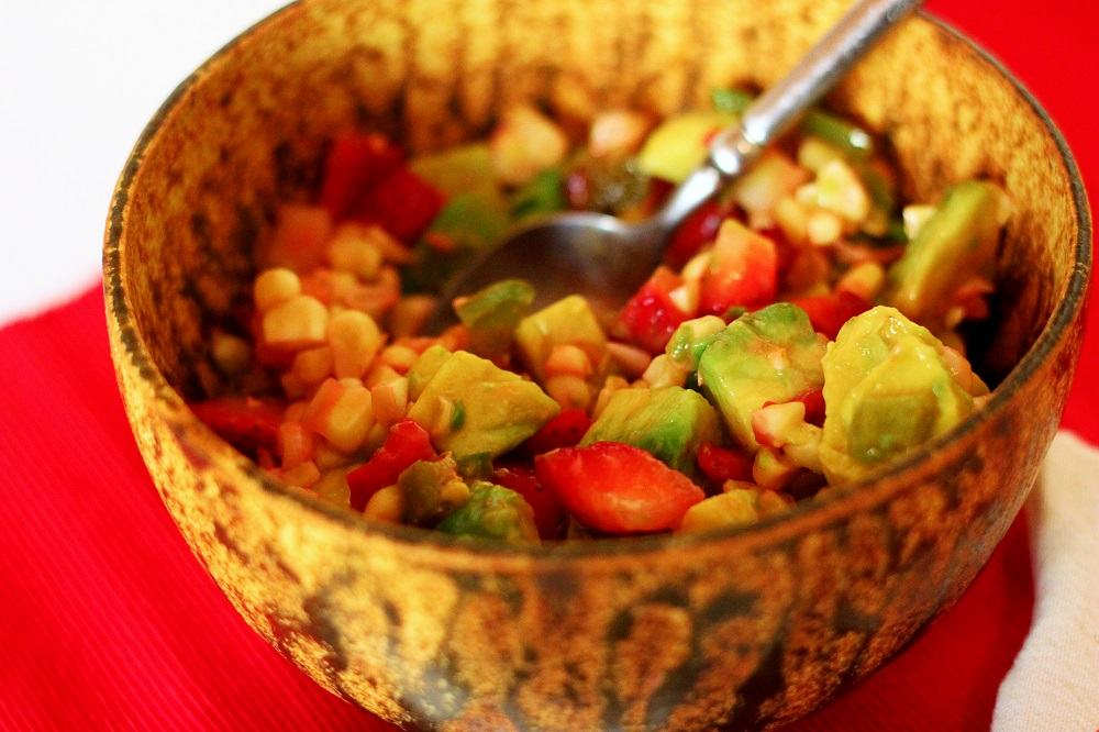 Strawberry-avocado-corn-salad