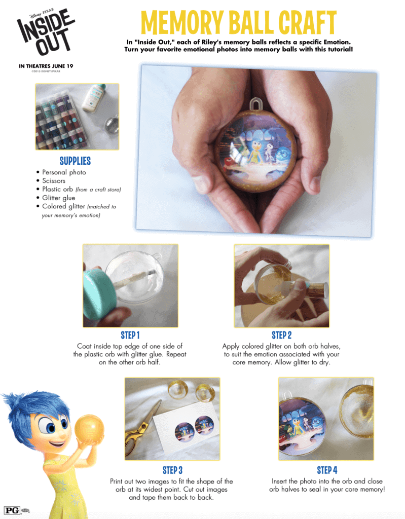 Inside Out craft memory ball