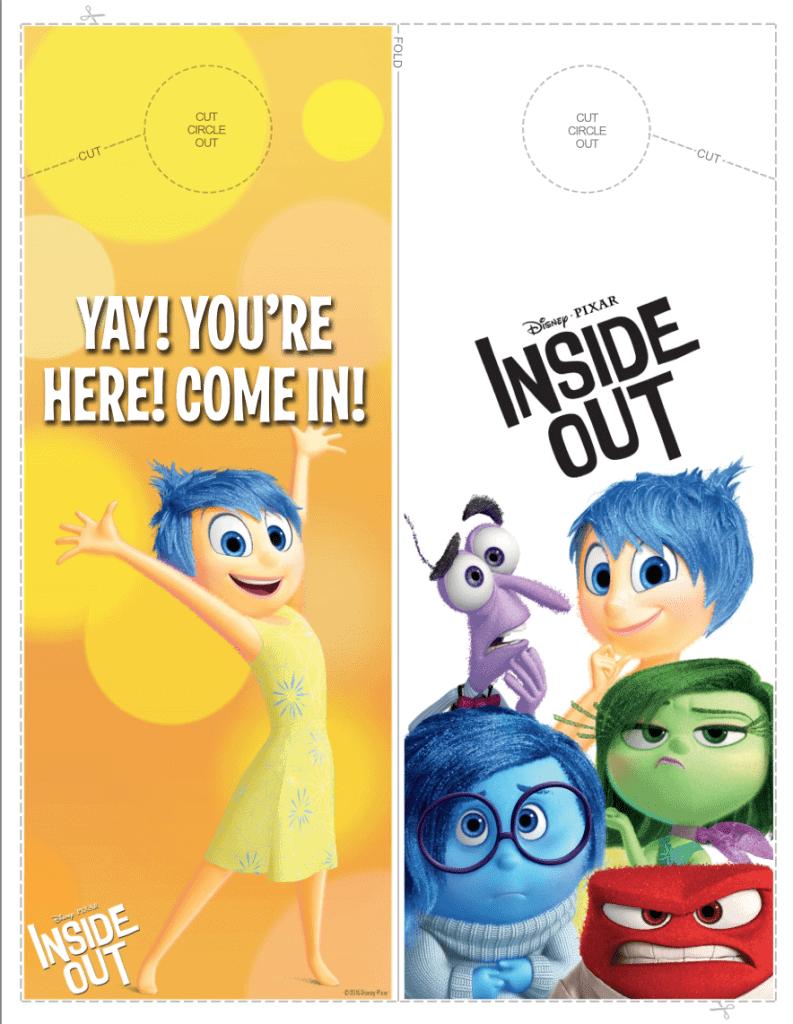 Inside Out door hanger printable