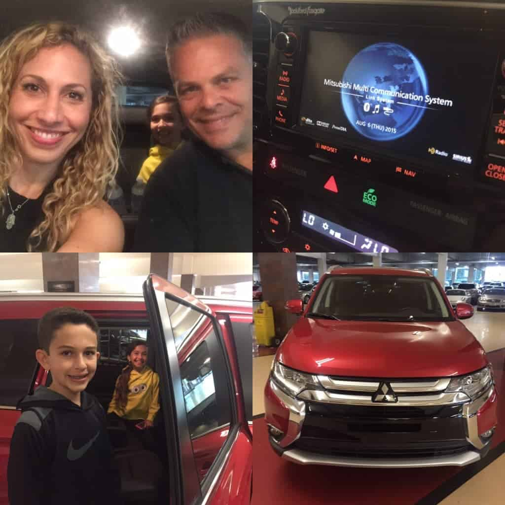 Collage Mitsubishi Outlander 2016 family road trip
