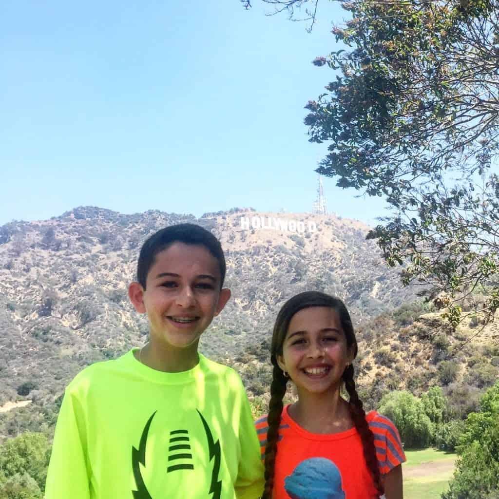 Kids at Hollywood Sign