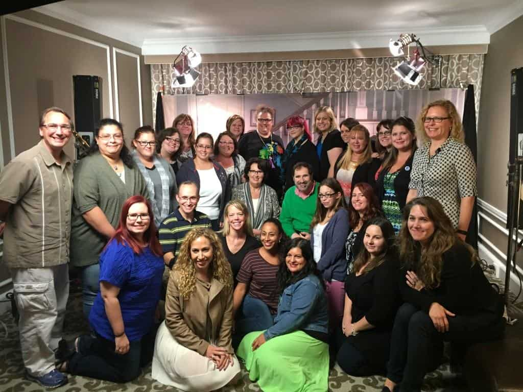 Bloggers with Richard Kind and Phyllis Smith from Inside Out