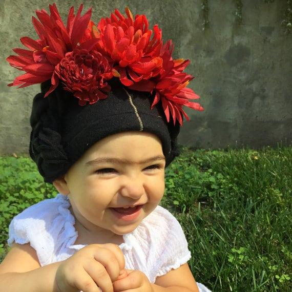 Frida Kahlo baby beanie