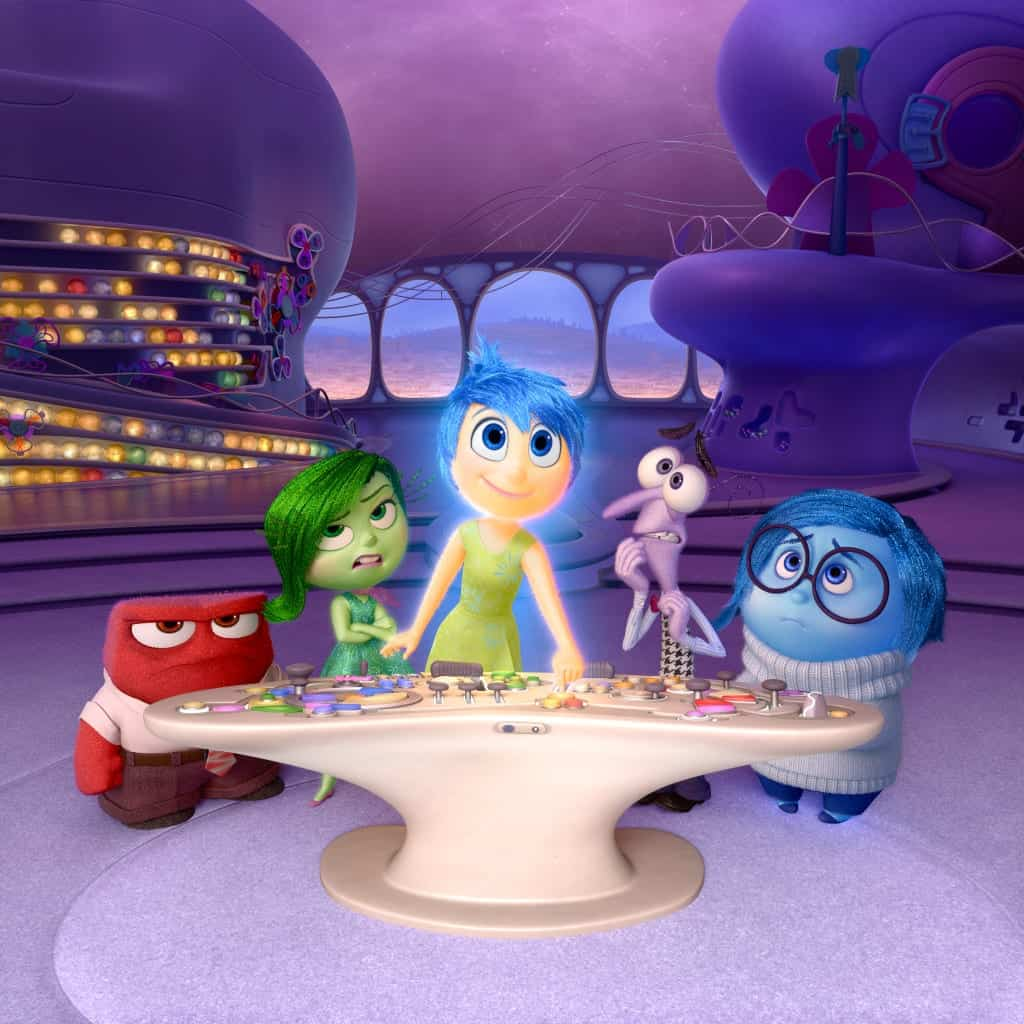 "Disney•Pixar's ""Inside Out"" takes us to the most extraordinary location yet - inside the mind of Riley. Like all of us, Riley is guided by her emotions - Anger (voiced by Lewis Black), Disgust (voiced by Mindy Kaling), Joy (voiced by Amy Poehler), Fear (voiced by Bill Hader) and Sadness (voiced by Phyllis Smith)."