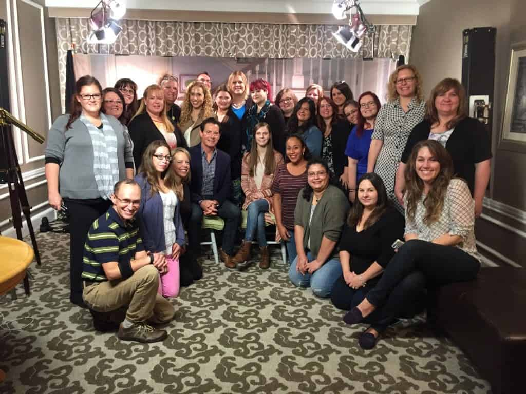 Kyle MacLachlan and Kaitlyn Dias with bloggers and press