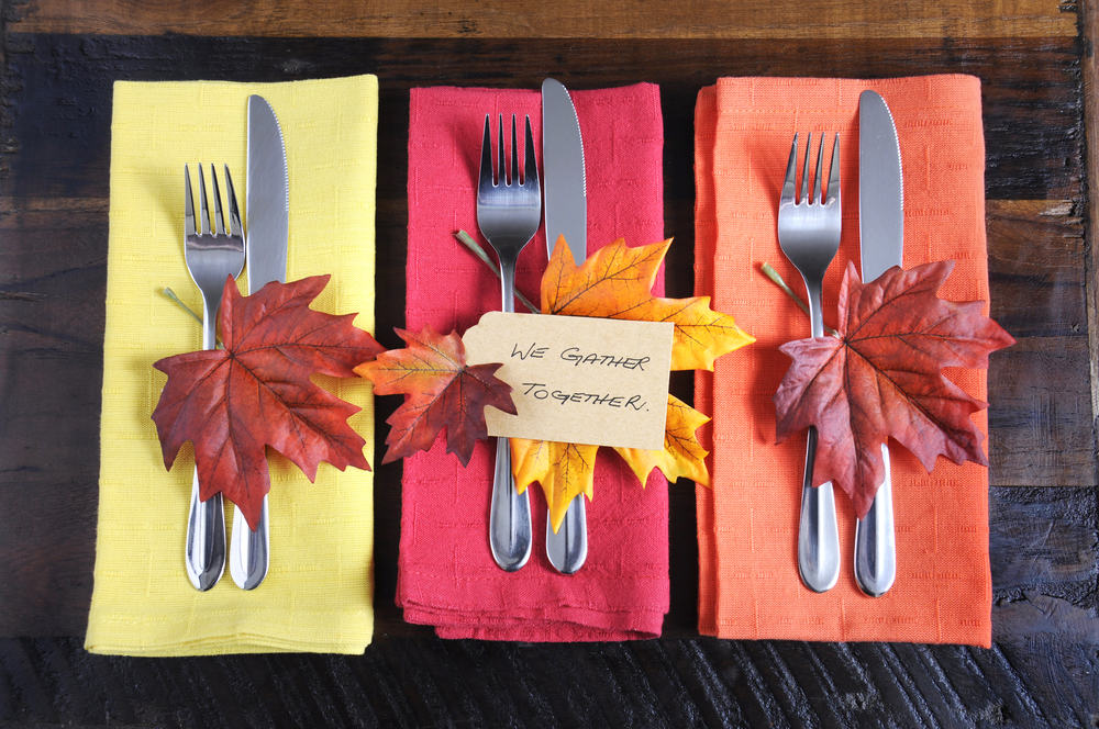 Thanksgiving or Fall place setting
