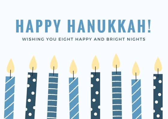 graphic relating to Printable Hanukkah Card identify Free of charge Hanukkah Playing cards - Hispana International