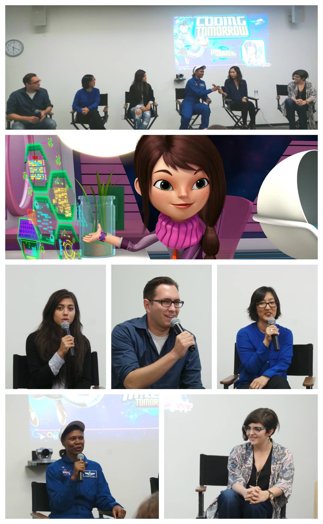Miles from Tomorrowland and women in tech pin