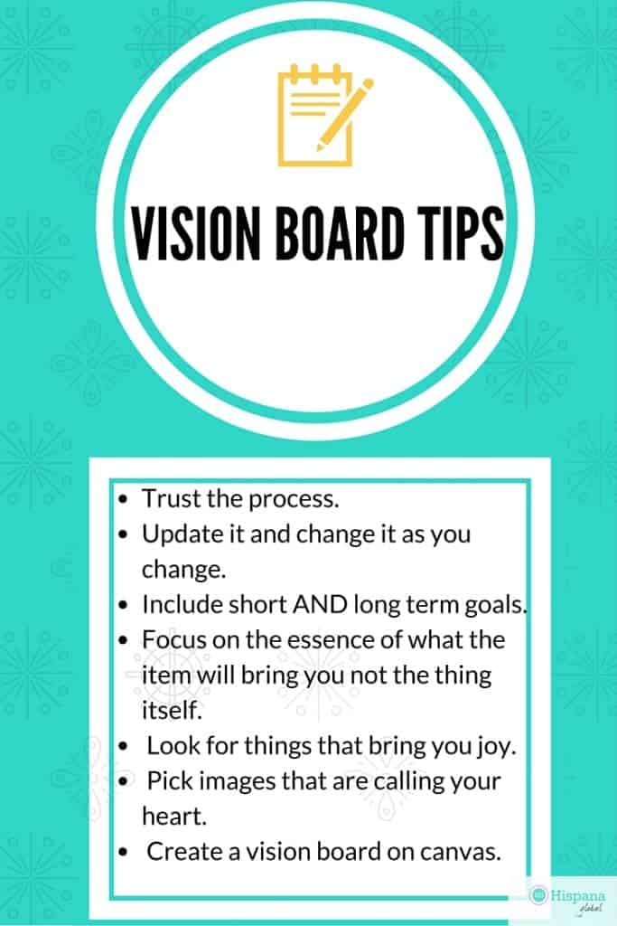 Tips to create the best vision board for you, so it will give you inspiration and keep you focused during the new year.