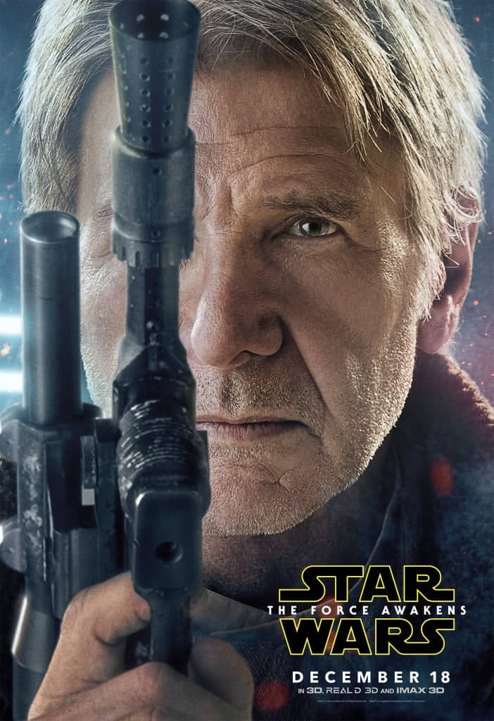 Harrison Ford poster Star Wars The Force Awakens