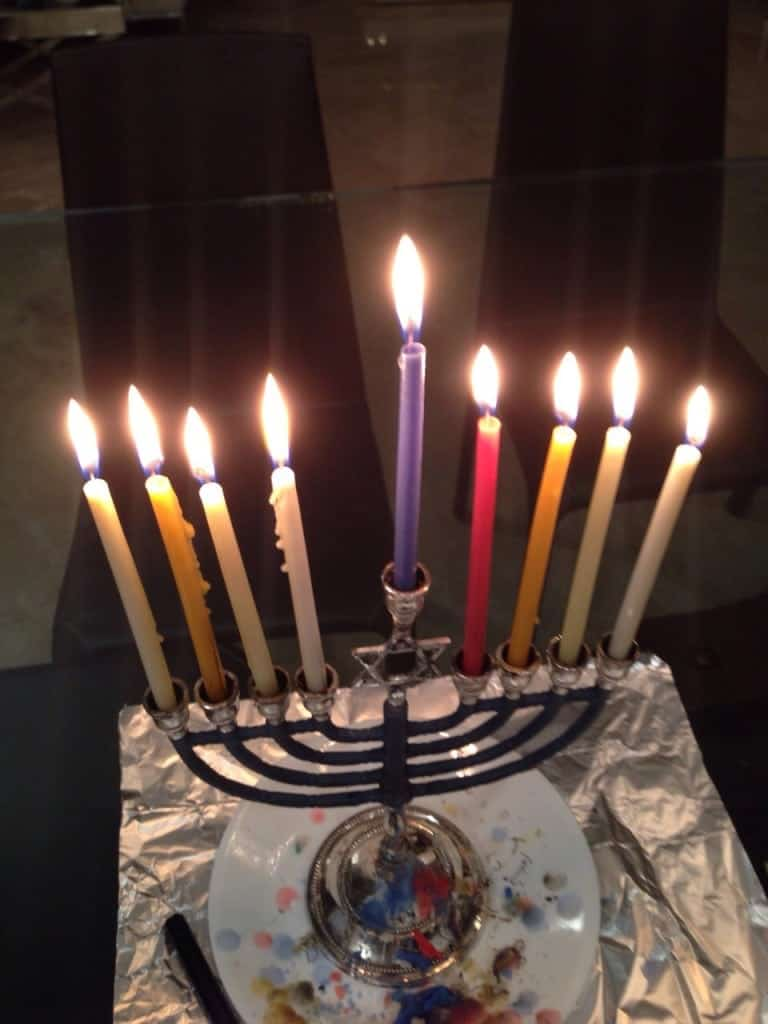 Hanukkah candles are lit to remember the miracles of the Festival of Lights.