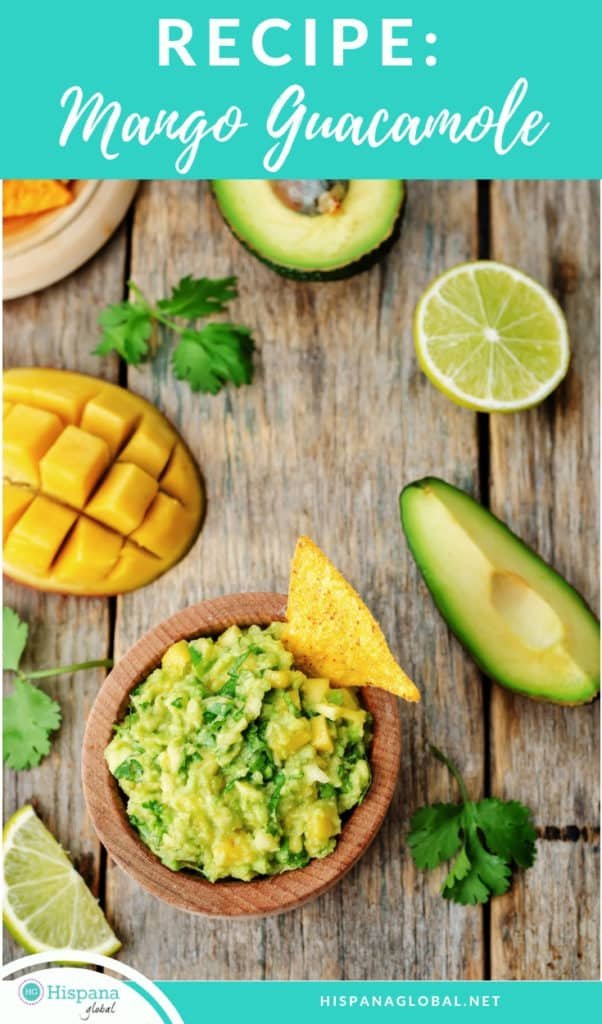 This delicious mango guacamole is a crowd pleaser and perfect for Cinco de mayo, a Mexican party or any tailgating party.