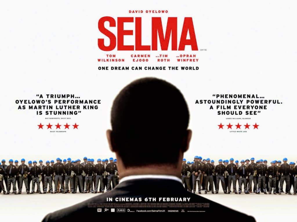 Selma is a great movie for Black History month