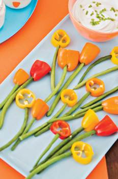 Veggie Flowers, healthy recipe for Easter
