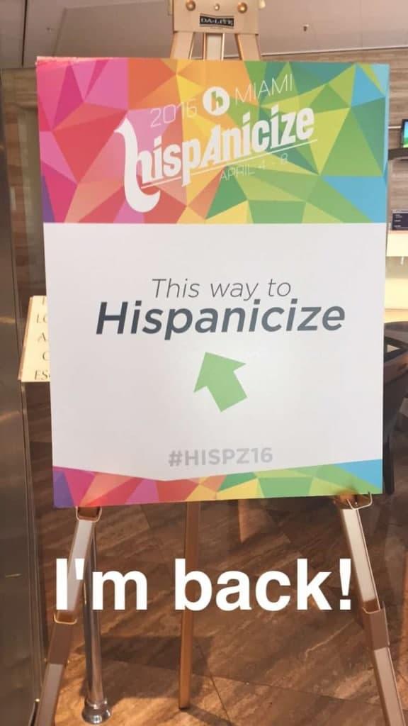 Hispanicize 2016 sign