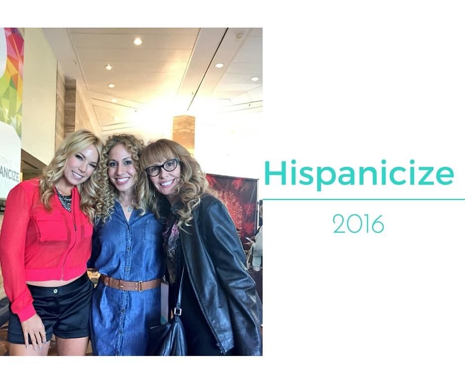 Pili Montilla, Jeannette Kaplun and Lorraine Ladish at Hispanicize 2016