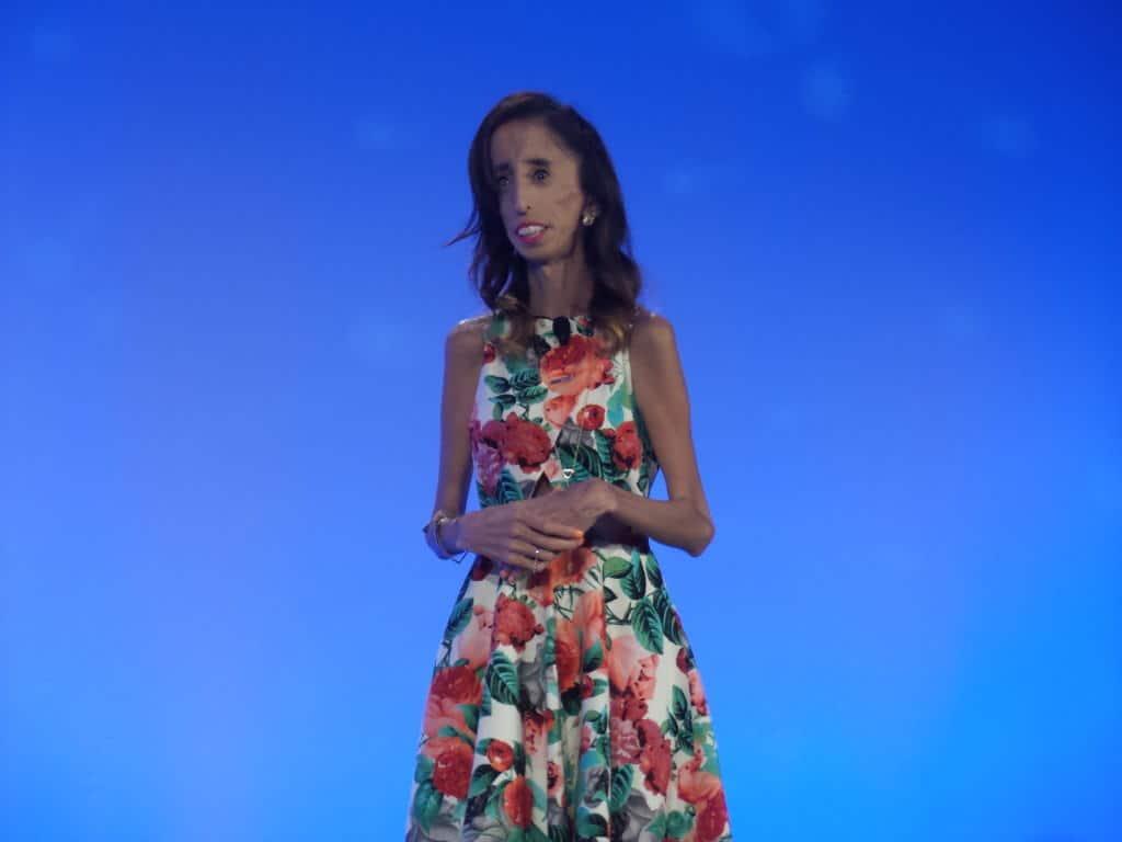 Lizzie Velasquez speaks at Hispanicize 2016