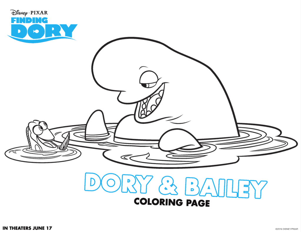 dory and bailey coloring sheet