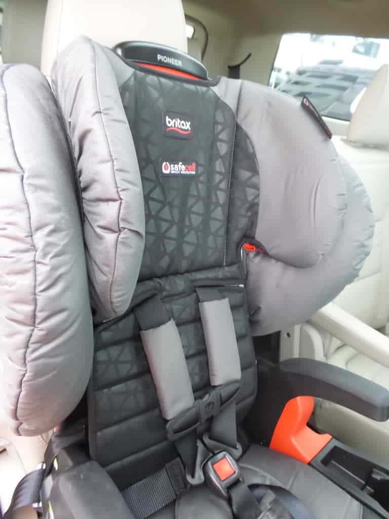 GMC Acadia back seat is perfect for car seats