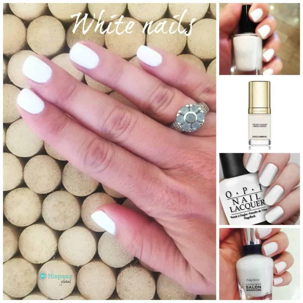 White nail polishes are a chic option for spring and summer.