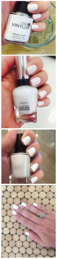 White nail polishes are beautiful and so chic.