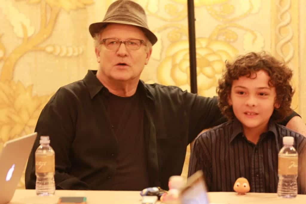 Albert Brooks and Hayden Rolence from Finding Dory