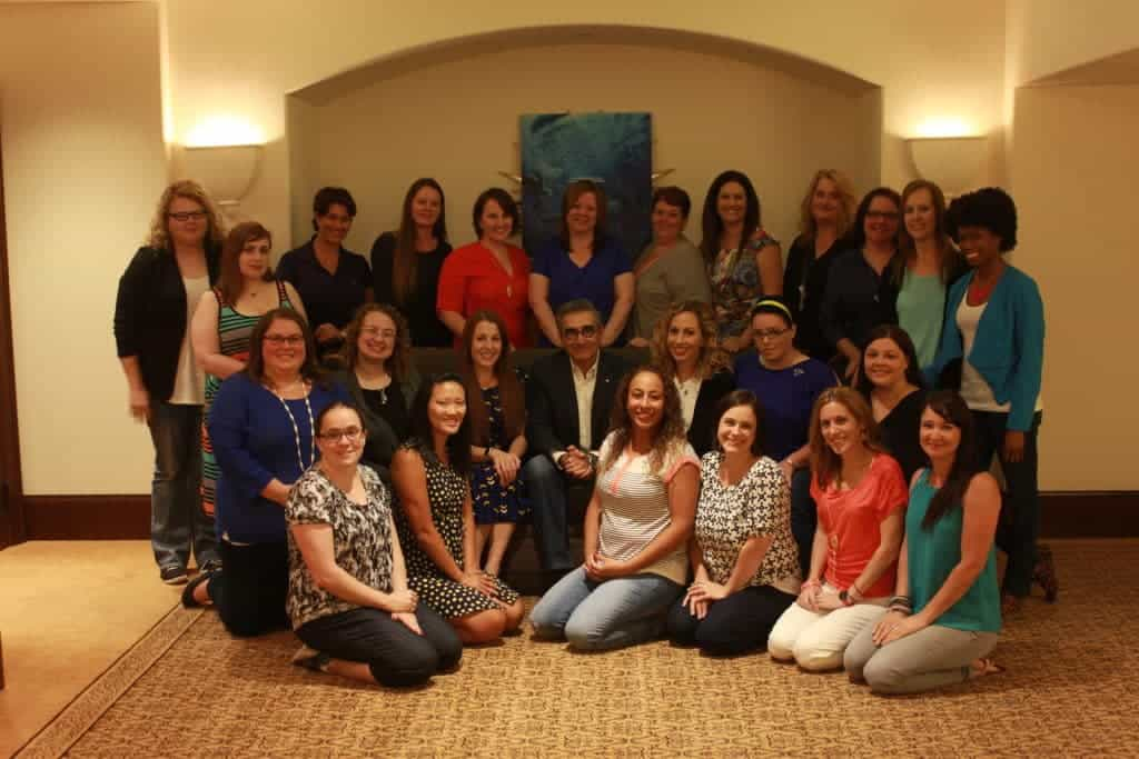 Eugene Levy with bloggers at Finding Dory event