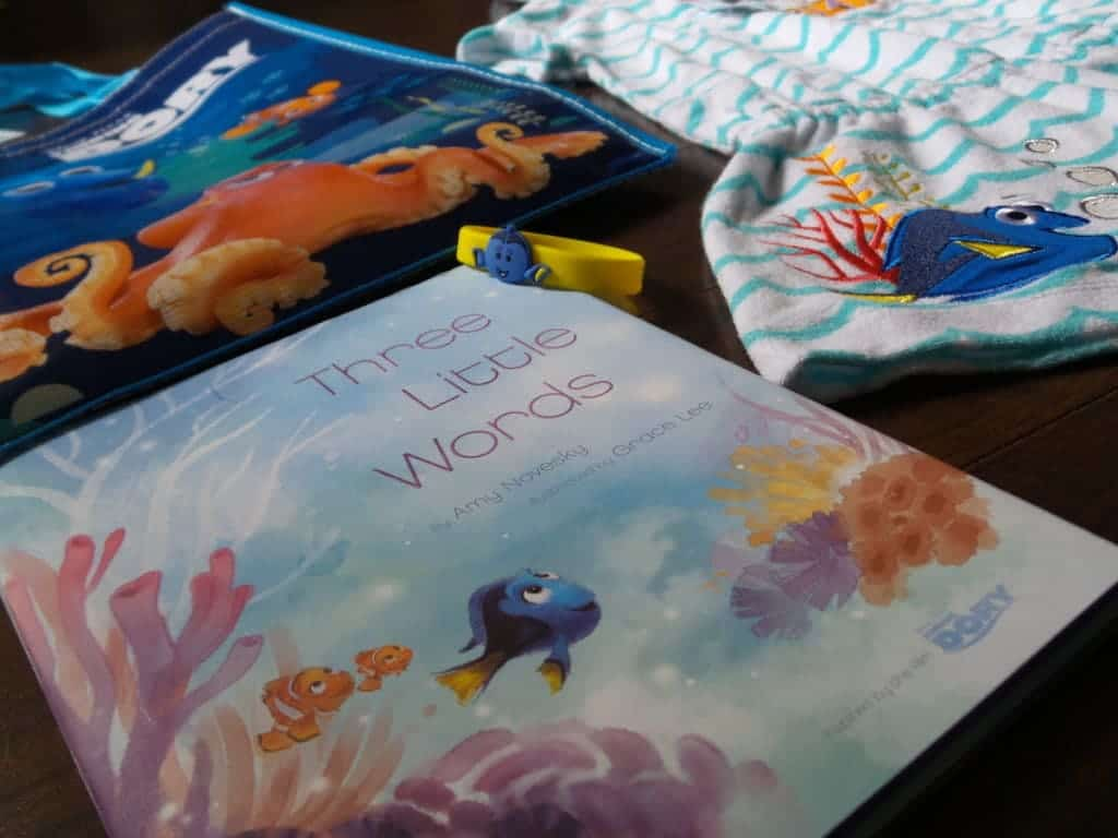 Finding Dory book and merchandise