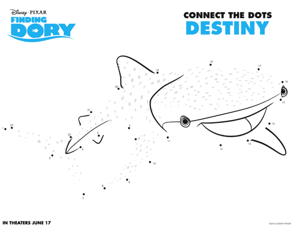 Finding Dory connect the dots Destiny