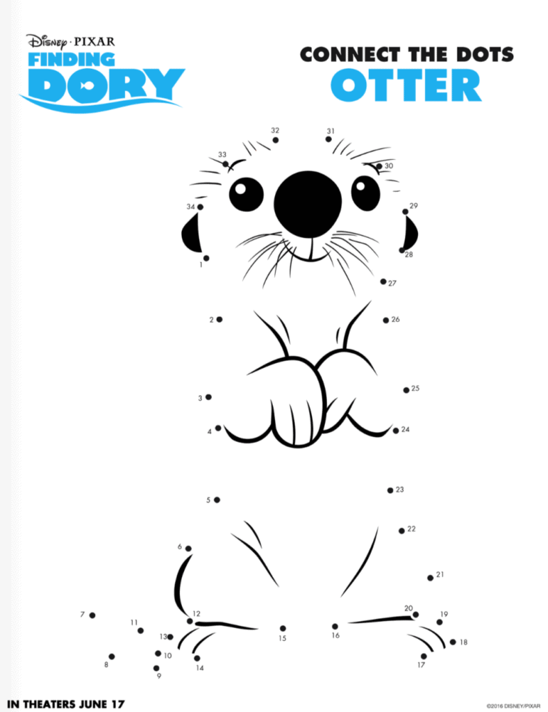 Finding Dory connect the dots Otter