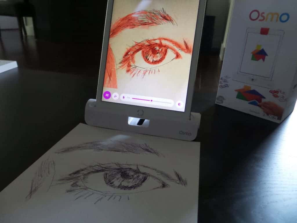 Drawing with Osmo Masterpiece app