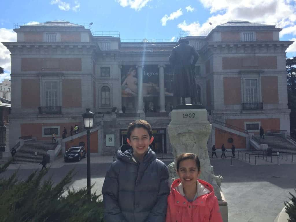 Traveling with kids to museo del prado