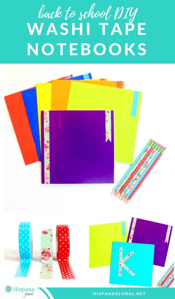 How to customize notebooks for back to school with washi tape