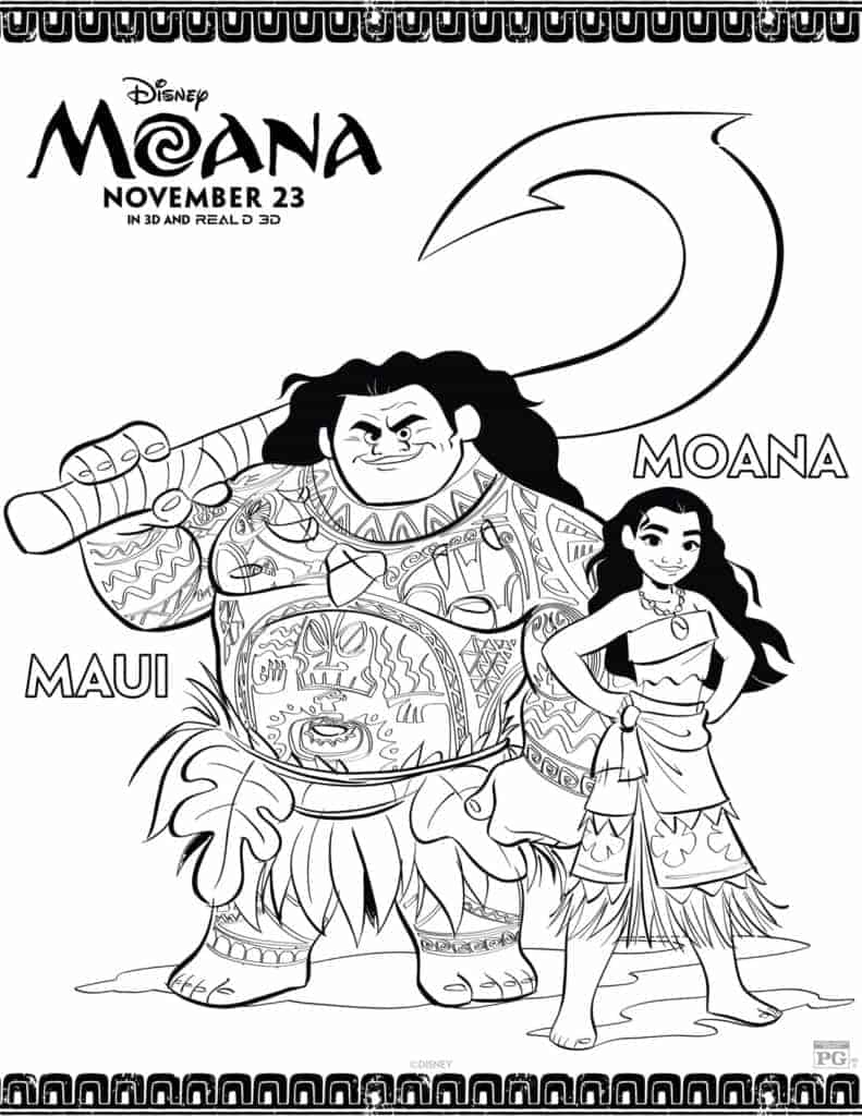 photo relating to Moana Sail Printable named No cost Printable Moana Coloring Sheets - Hispana World wide