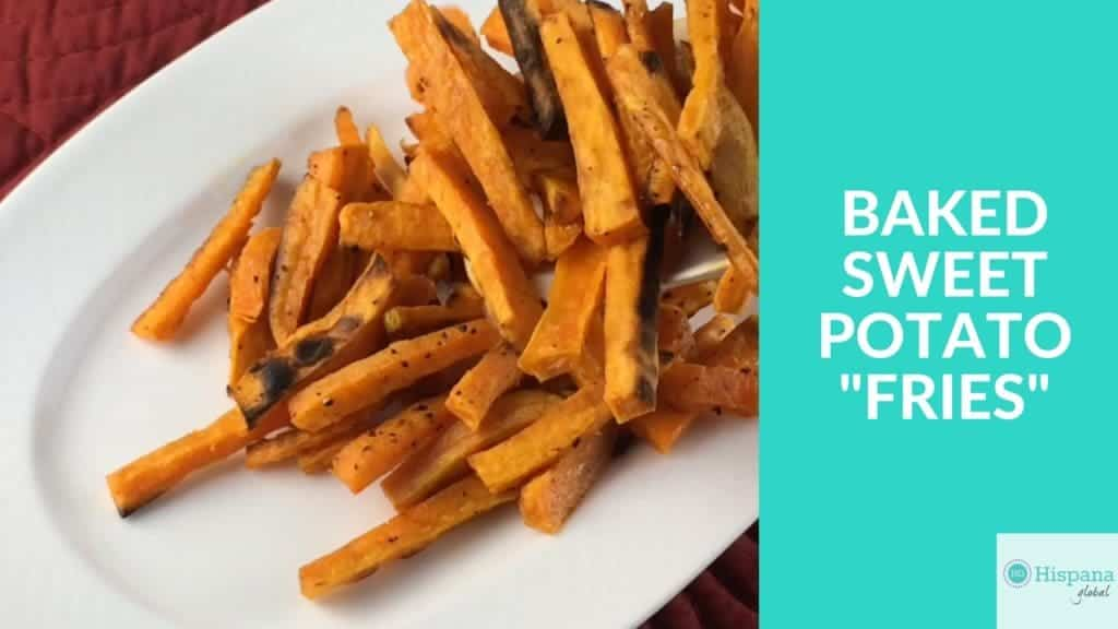 How to make healthy baked sweet potato fries