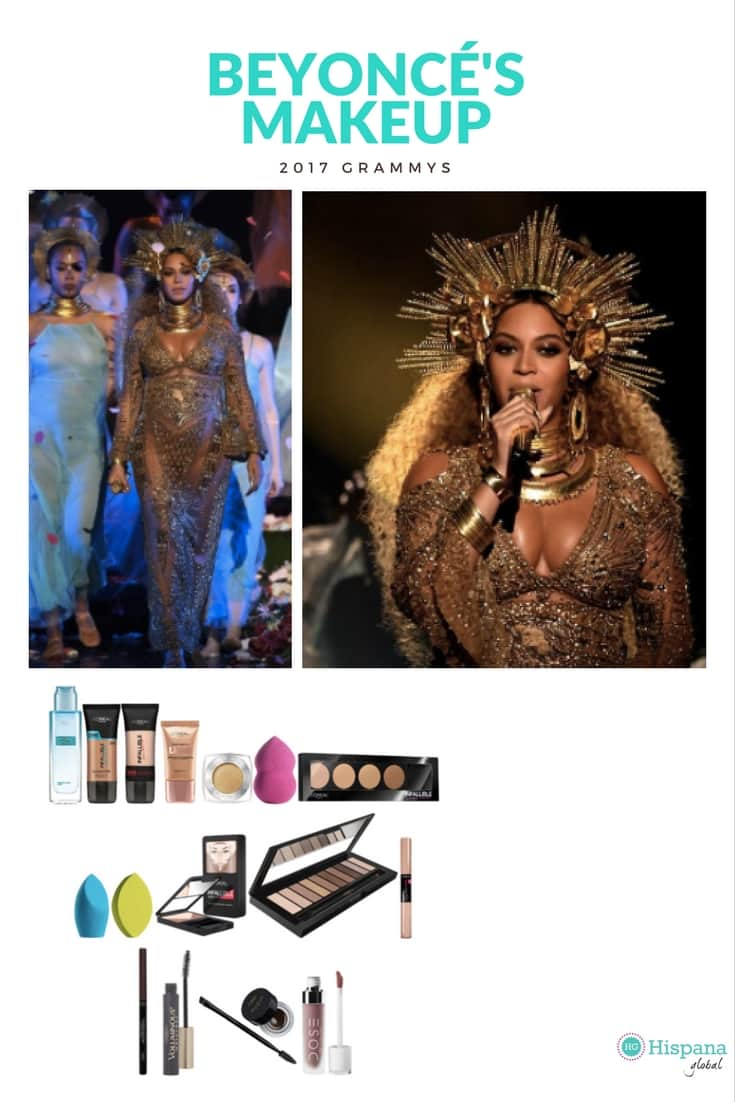 Beyonc 233 S Golden Makeup Step By Step Hispana Global
