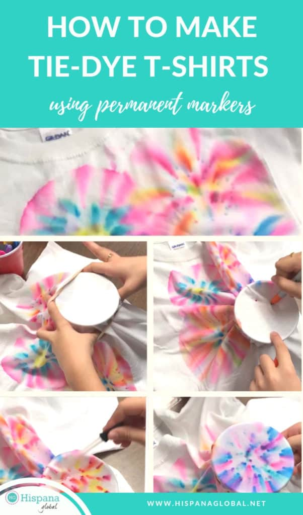 You won't believe how simple it is to learn how to make tie-dye shirts with markers and rubbing alcohol.