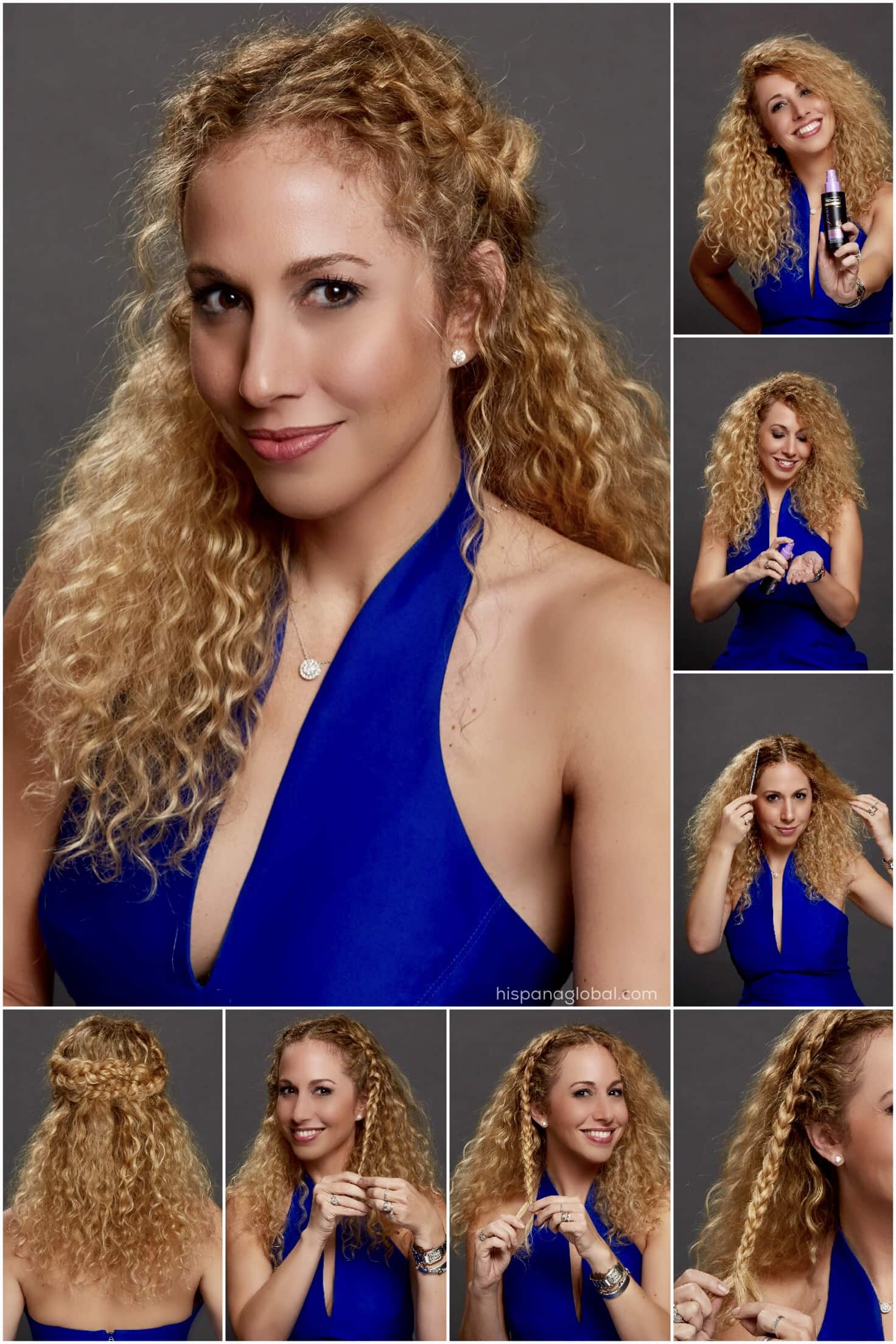 Curly Hair Tutorial: Romantic Braids