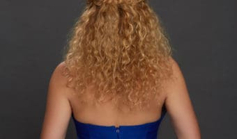 Romantic braids for curly hair tutorial
