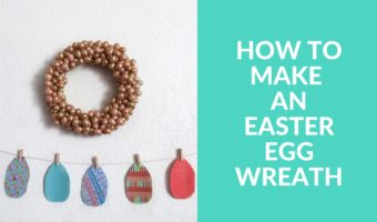 Easy Easter DIY, a wreath made with plastic eggs