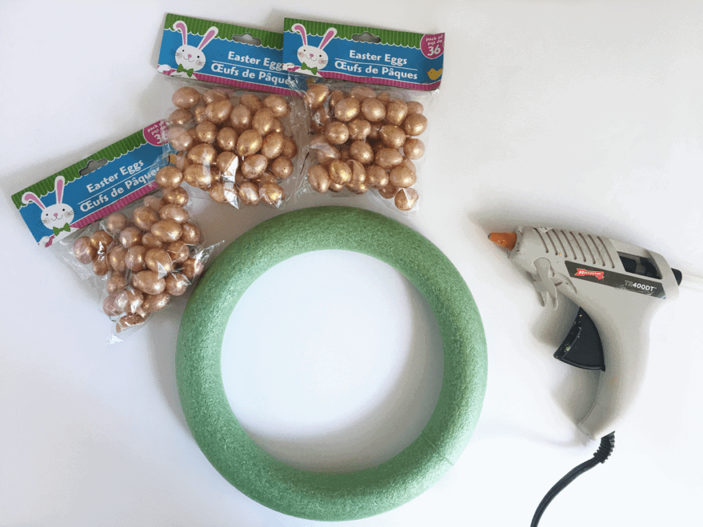 Easter egg wreath  supplies