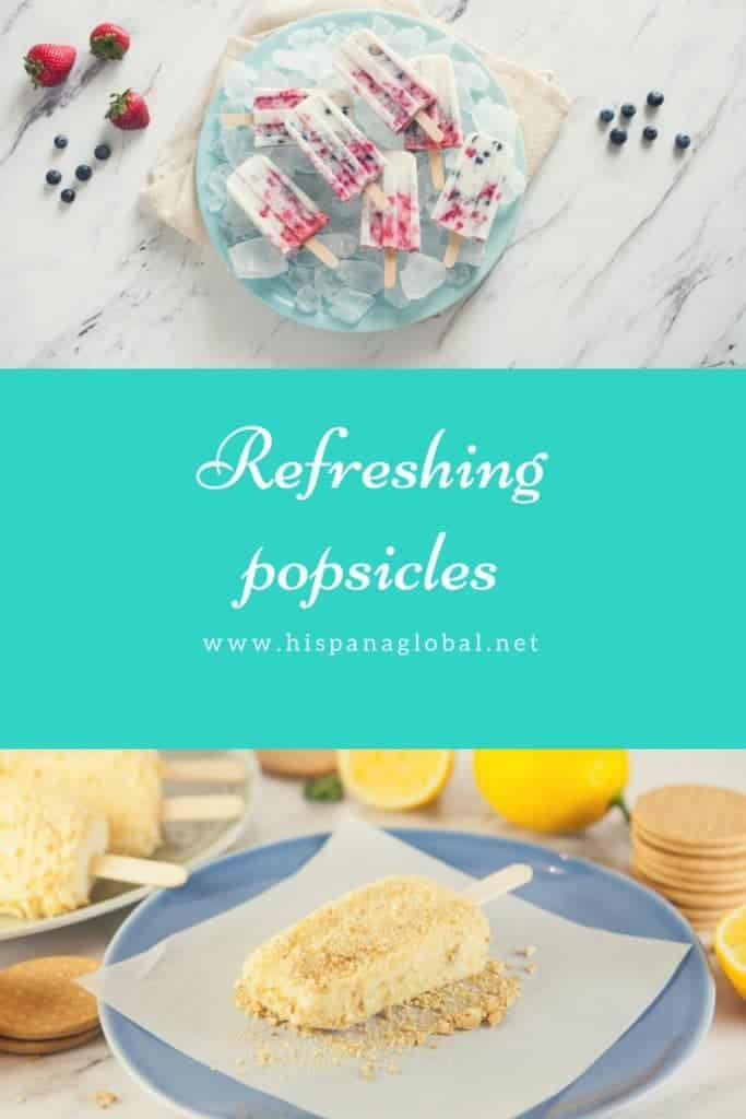 Refreshing and delicious popsicle recipes inspired by Mexican Paletas via hispanaglobal.net