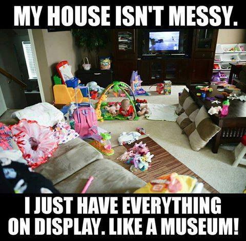 Messy house meme