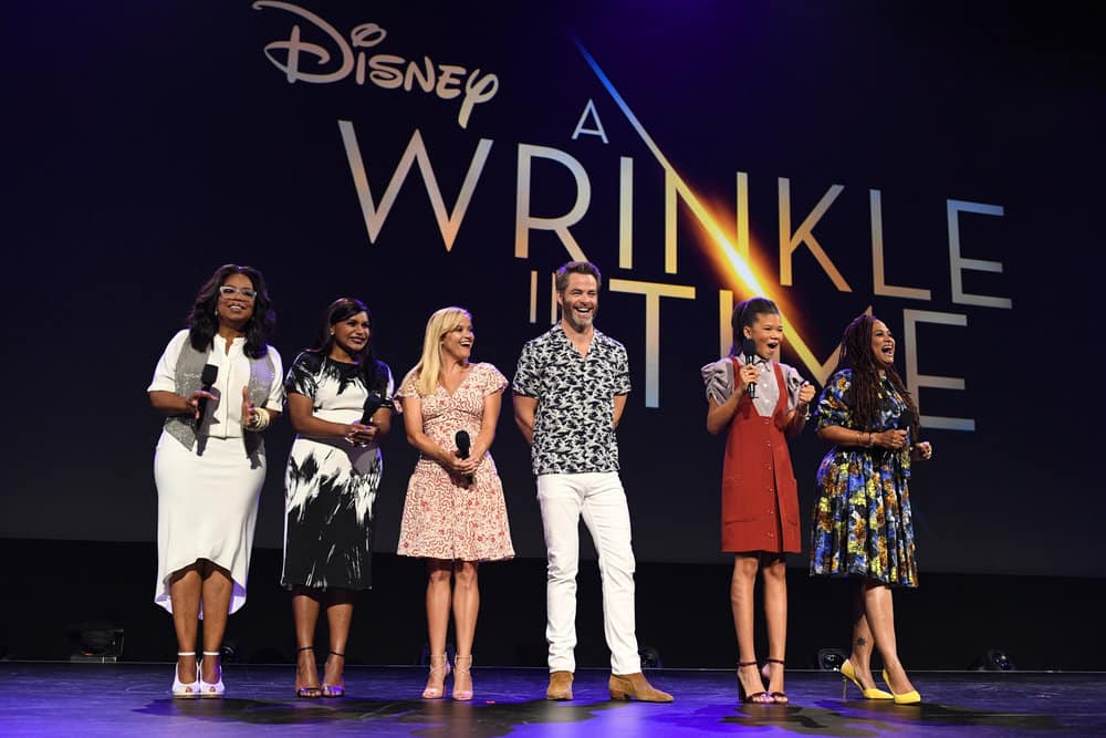 The amazing cast and director of A Wrinkle in Time