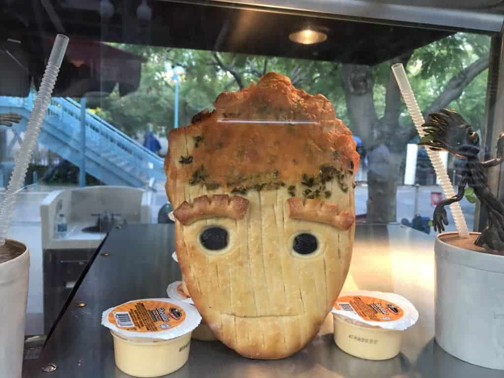 Groot bread offered during Disneyland's Summer of Heroes