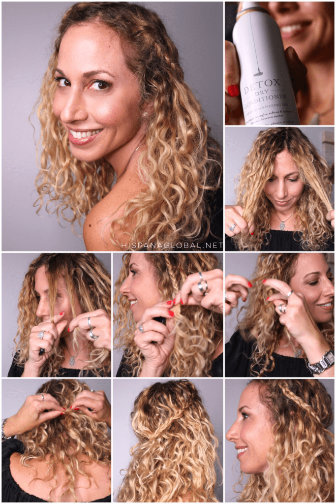 Easy summer hair tutorial for curly hair perfect for a boho chic look